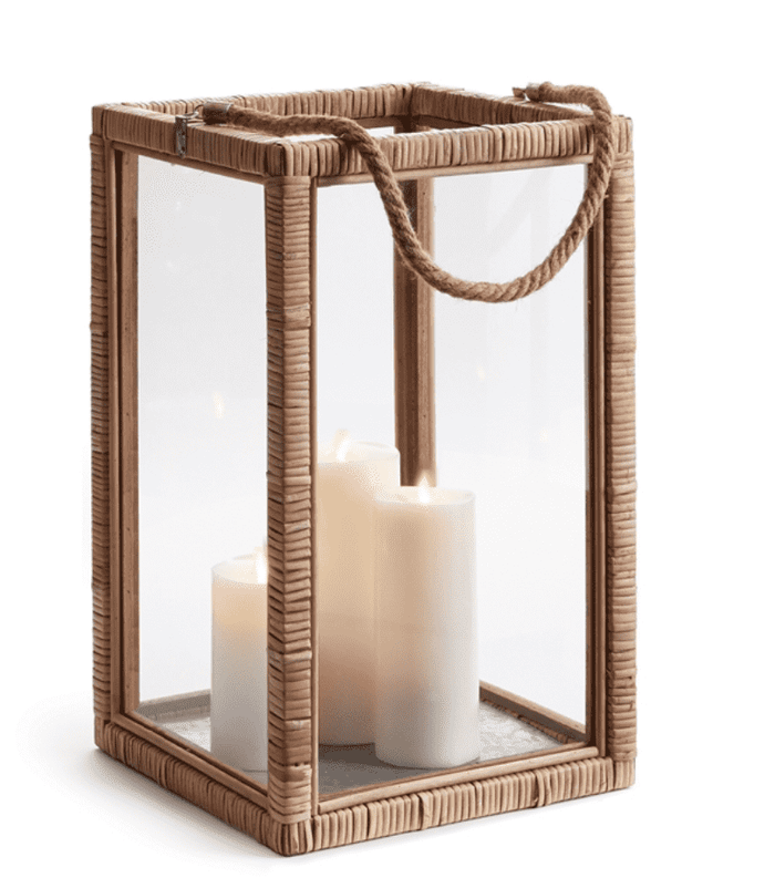 "Rattan Cottage Lantern 18.5"" - Large"