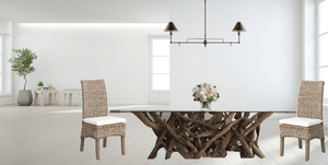 Hampton Driftwood Dining Base to accommodate a Rectangular Glass Top - Various Sizes Dining Table