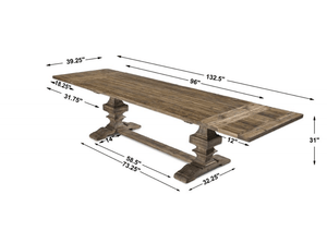 Remington Large Extension Recycled Wood Dining Table Dining Table
