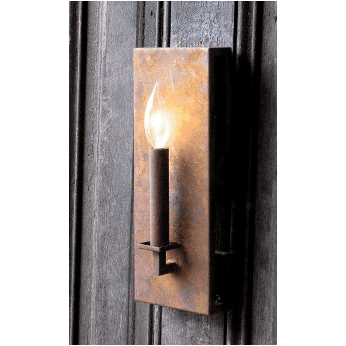 Rustic Iron Candle Light Wall Sconce Our Boat House