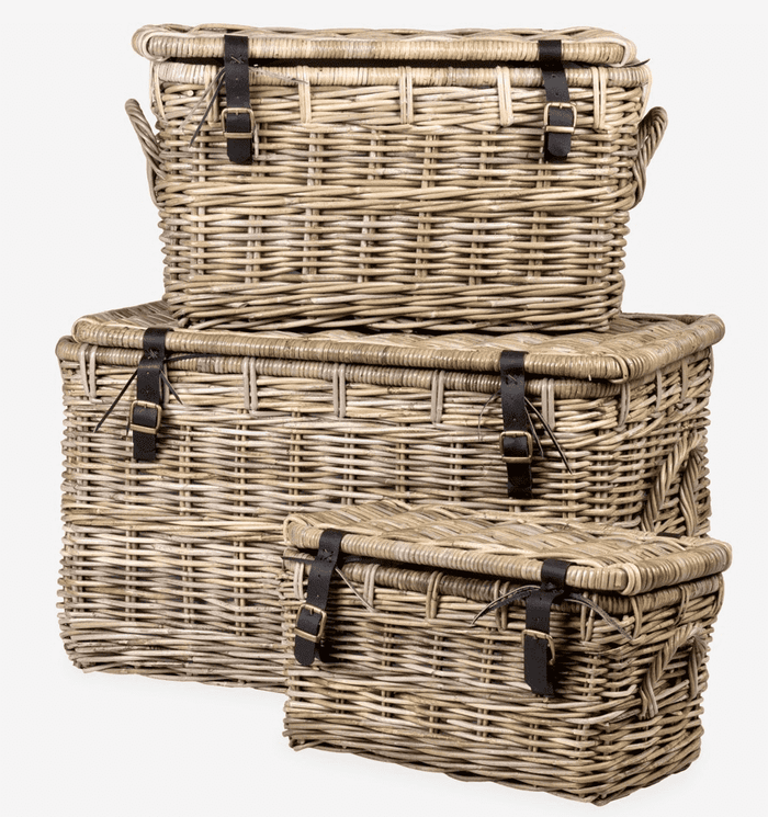 Kubu Rattan Marina Baskets -  Set of Three