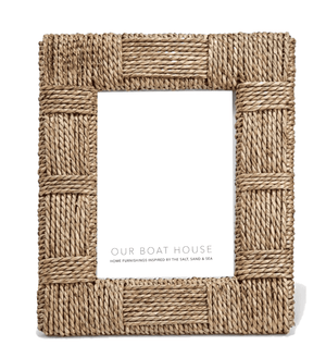 Stoneham Sea Grass Frames - Two Sizes Picture Frame 7x9 holds 4x6 photo