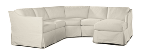 South Seas II Outdoor Slipcovered Sectional w/Lounge