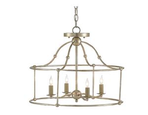 Birdcage Wrought Iron Lantern (Two Sizes & Two Finishes) Chandelier Small Silver Granello (silver finish on wrought iron)