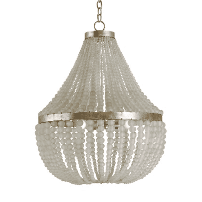"Somerset 25"" Frosted Glass Bead Chandelier"