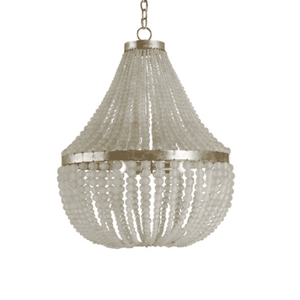 "Somerset 25"" Frosted Glass Bead Chandelier Chandelier"