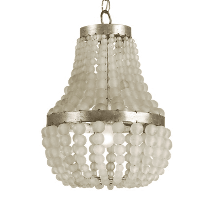 "Somerset Petit 13"" Frosted Glass Bead Chandelier"