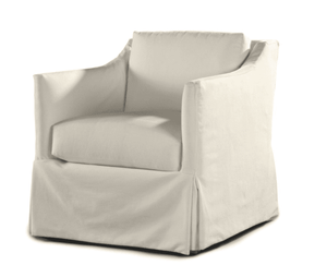 South Seas II Outdoor Slipcovered Swivel Lounge Chair