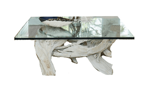 Hampton Driftwood Coffee Table Base for Square Glass Top - Various Sizes Coffee Table