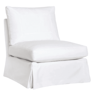 "St. Bart's 29"" Armless Slipcovered Chair Slipcovered Chair"