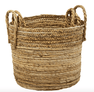 Sumatra Braided Seagrass Baskets - Set of Three Basket