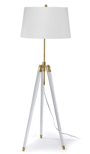 Surveyors Floor Lamp With Lucite Legs And Brass Accents Floor Lamp