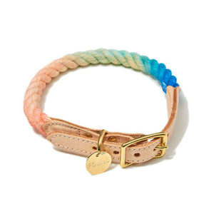 Sweet Pea Ombre Cotton Rope Collar Dog