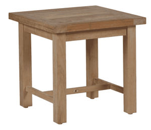 "Cape Cod Natural Teak 22"" Sq Outdoor Side Table"
