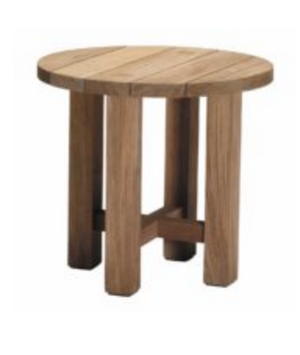 "Cape Cod Natural Teak 24"" Round Outdoor Side Table"
