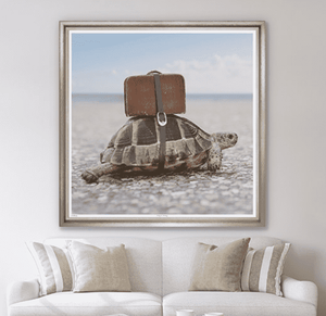 Tortoise Travels - Framed Giclee Art Art