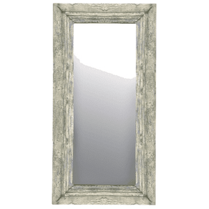 Vintage Aqua/White Wash Painted Large Rectangular Mirror Mirror