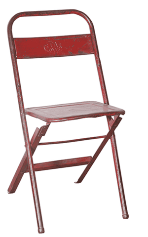 "Antique 16"" Red Vintage Folding Chair Antique Chair"