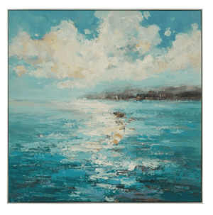 "Watery Hues 47"" Sq Framed Art"