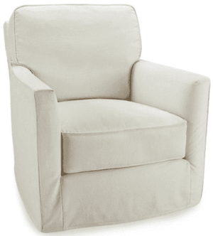 "Wellington 30"" Slipcovered Swivel Chair Slipcovered Chair"