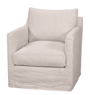 "Westchester Slipcovered 31.5"" XL Swivel/Glide Arm Chair Swivel/Glider"