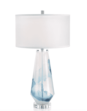 Whirling Clouds Glass Table Lamp