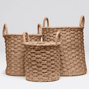 Wicker Nesting Baskets S/3