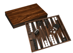 Luxury Wood Grain Lacquer Backgammon Set Game