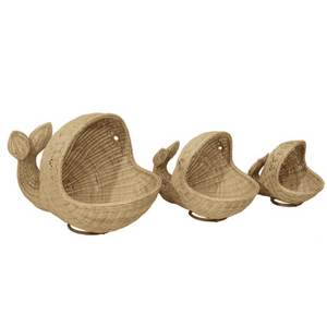 Woven Whale Baskets - Set of Three