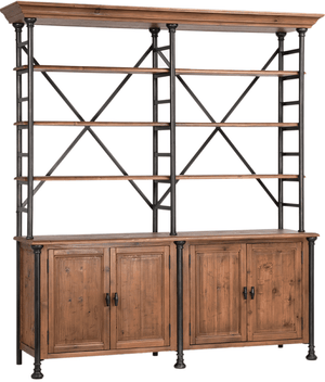 "Winter Park 78"" Book Shelf w/Storage Cabinet Shelf"