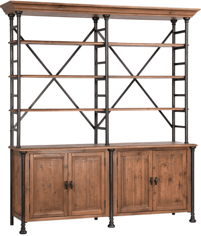 "Winter Park 78"" Book Shelf w/Storage Cabinet"