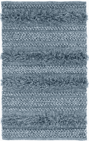 Zhara Striped Denim Blue Indoor/Outdoor Rug Rug