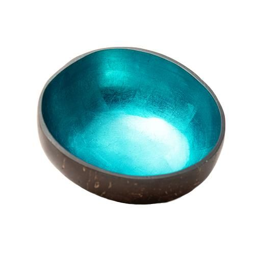 "Deco Coconut Bowl ""Shiny Petrol"""