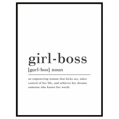 Girl-boss noun