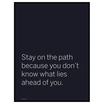 Stay on the path