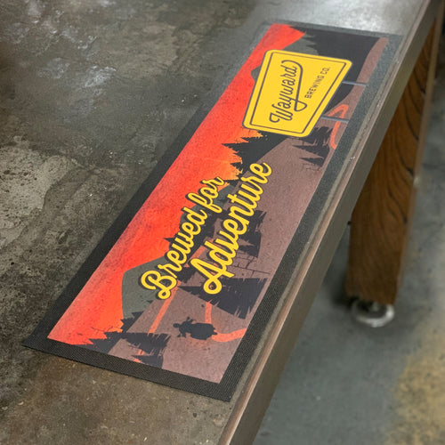 WAYWARD BAR MAT (BREWED FOR ADVENTURE)