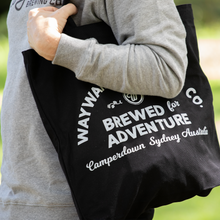 Load image into Gallery viewer, BLACK TOTE BAG (WAYWARD CLASSIC)