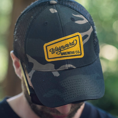 CAMO HAT (WAYWARD BREWING CO. LOGO)