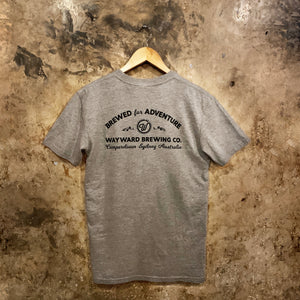 BREWED FOR ADVENTURE (CLASSIC) GREY T-SHIRT