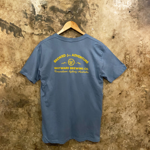 BREWED FOR ADVENTURE (CLASSIC) BLUE T-SHIRT