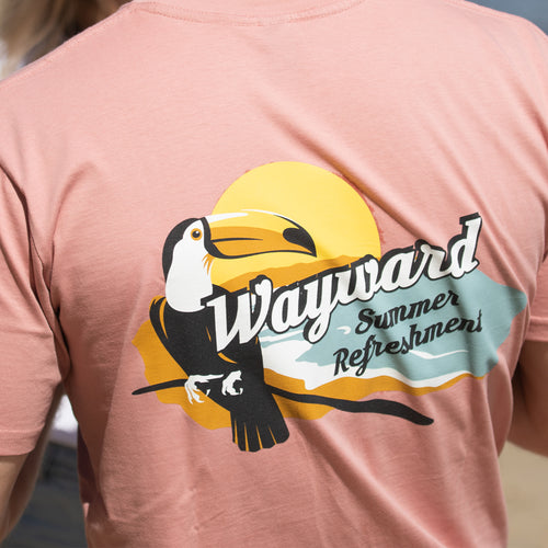 WAYWARD SUMMER REFRESHMENT T-SHIRT (DUSK PINK)