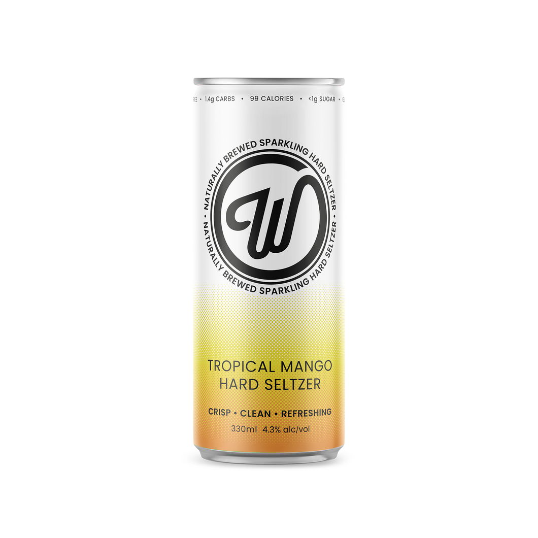 W SELTZER CASE - TROPICAL MANGO