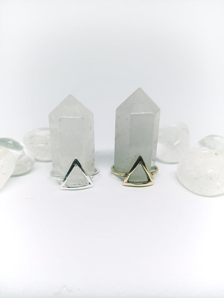 Cut Triangle Ring
