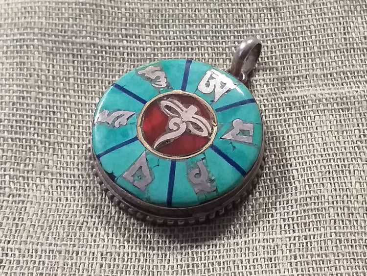 Buddha Eyes Inlay Pendant-Himalayan Trading Post Ltd
