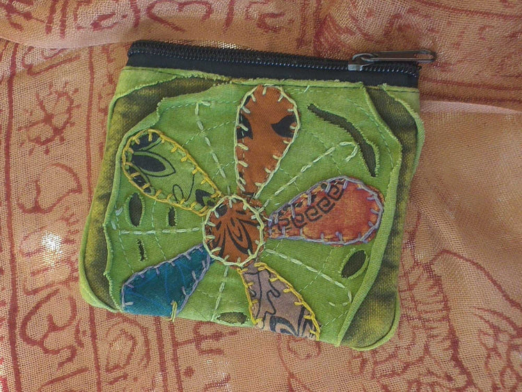 Cutwork Flower Coin Purse-Himalayan Trading Post Ltd