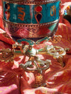 Table Prayer Wheel Lotus-Himalayan Trading Post Ltd