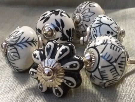 Ceramic Knob Black-Himalayan Trading Post Ltd