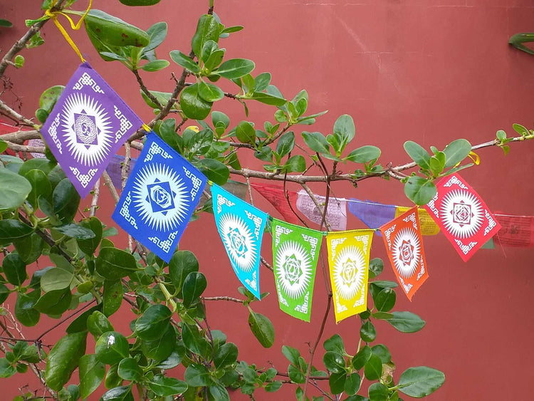 7 Chakra Flags-Himalayan Trading Post Ltd