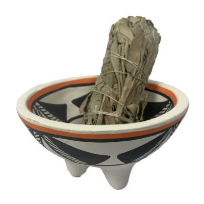 Smudge Bowl Aztec Orange & Black