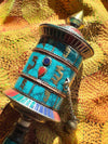 Hand Held Prayer Wheel Red Green Top-Himalayan Trading Post Ltd